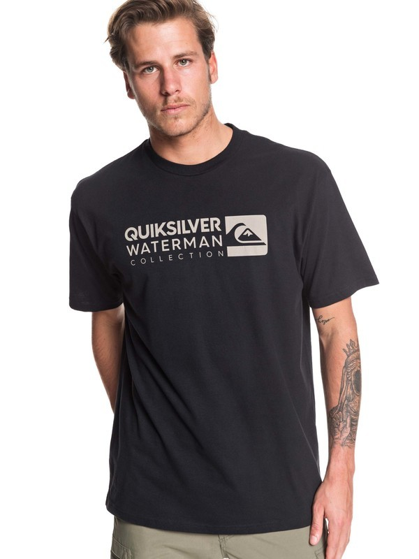0 Waterman Staple Sandwich Tee Black AQMZT03382 Quiksilver