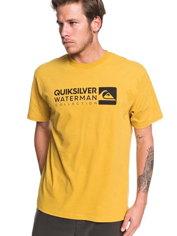 0 Waterman Staple Sandwich Tee Yellow AQMZT03382 Quiksilver