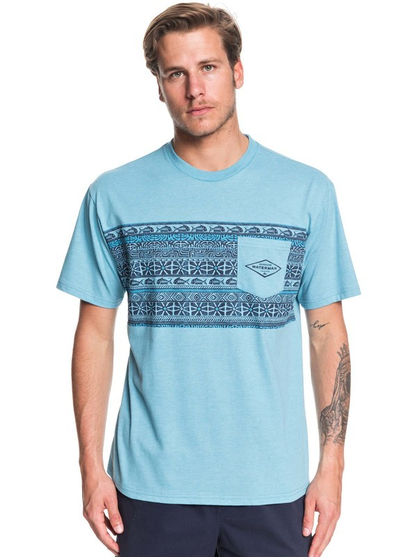 0 Waterman Vinae Bay Pocket Tee Blue AQMZT03388 Quiksilver