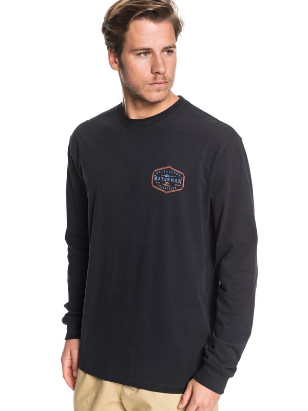 0 Waterman Anchored Mission Long Sleeve Tee Black AQMZT03391 Quiksilver