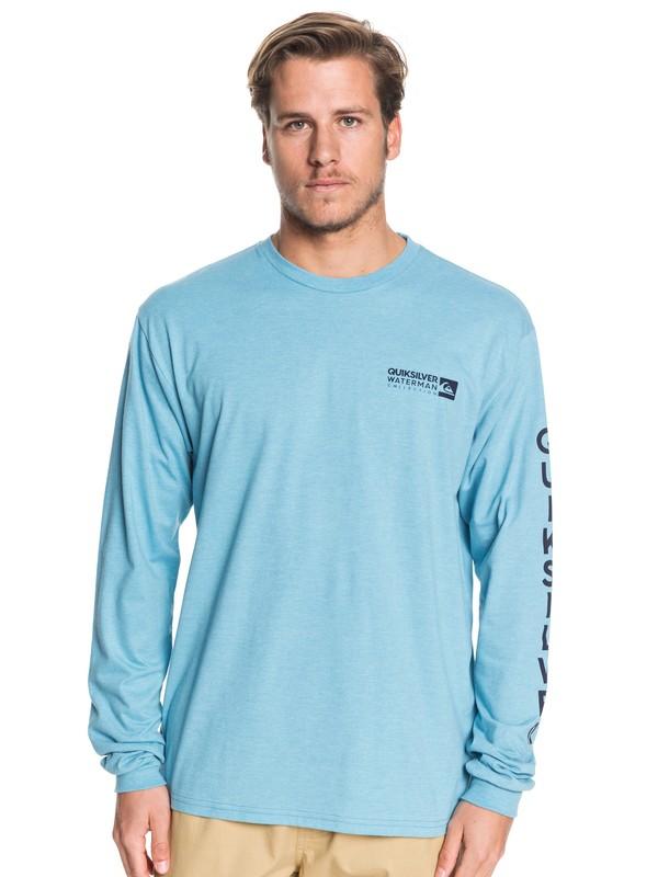 0 Waterman Staple Sandwich Long Sleeve Tee Blue AQMZT03392 Quiksilver
