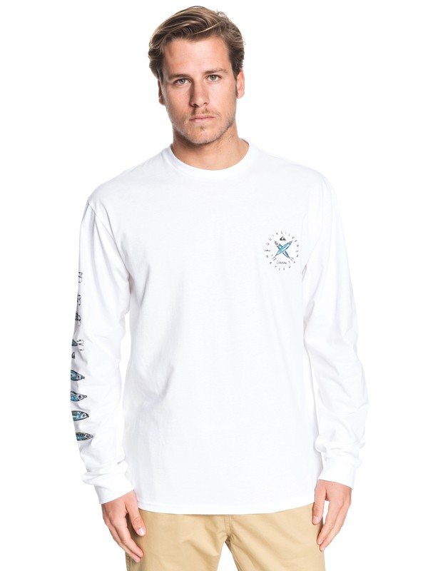 0 Waterman Lure Me In Long Sleeve Tee White AQMZT03393 Quiksilver