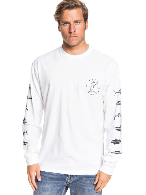 0 Waterman X Ray Long Sleeve Tee White AQMZT03427 Quiksilver