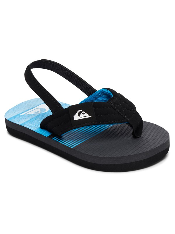 0 Boy's 2-7 Molokai Layback Sandals Black AQTL100056 Quiksilver