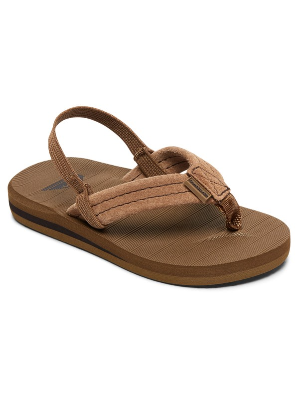 0 Boy's 2-7 Carver Suede Leather Sandals Beige AQTL100057 Quiksilver