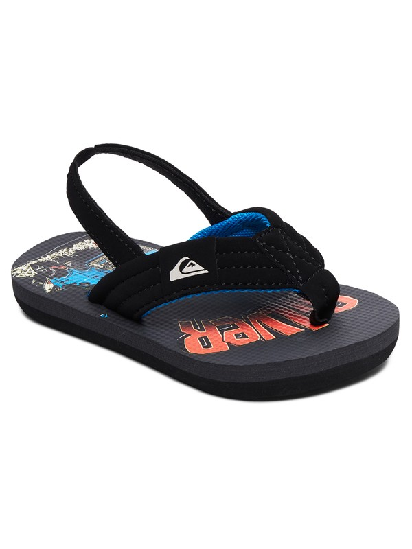 0 Boy's 2-7 Molokai Layback Backstrap Sandals Black AQTL100059 Quiksilver