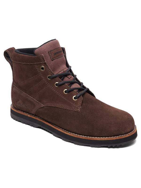 0 Gart - Water Resistant Lace-Up Boots Brown AQYB700035 Quiksilver