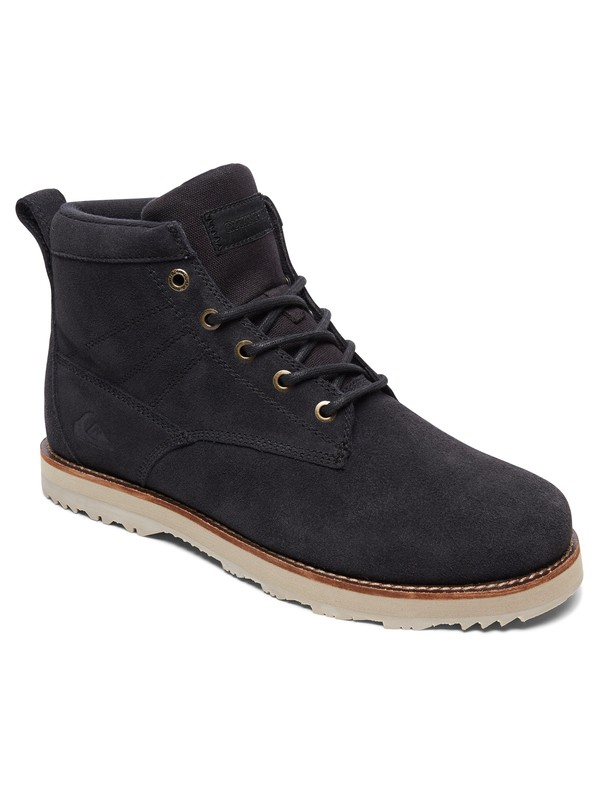 0 Gart - Water Resistant Lace-Up Boots Grey AQYB700035 Quiksilver