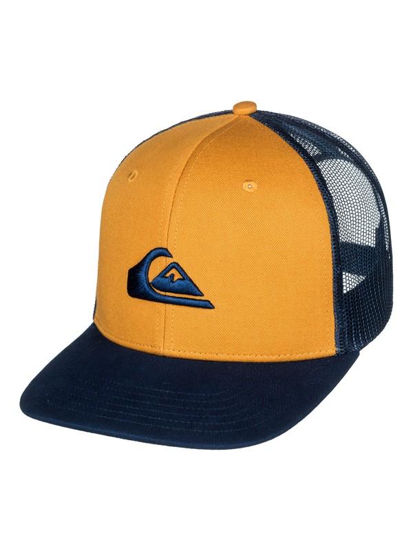 0 Grounder Trucker Hat Brown AQYHA03997 Quiksilver