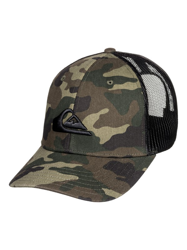 0 Grounder Trucker Hat Green AQYHA03997 Quiksilver