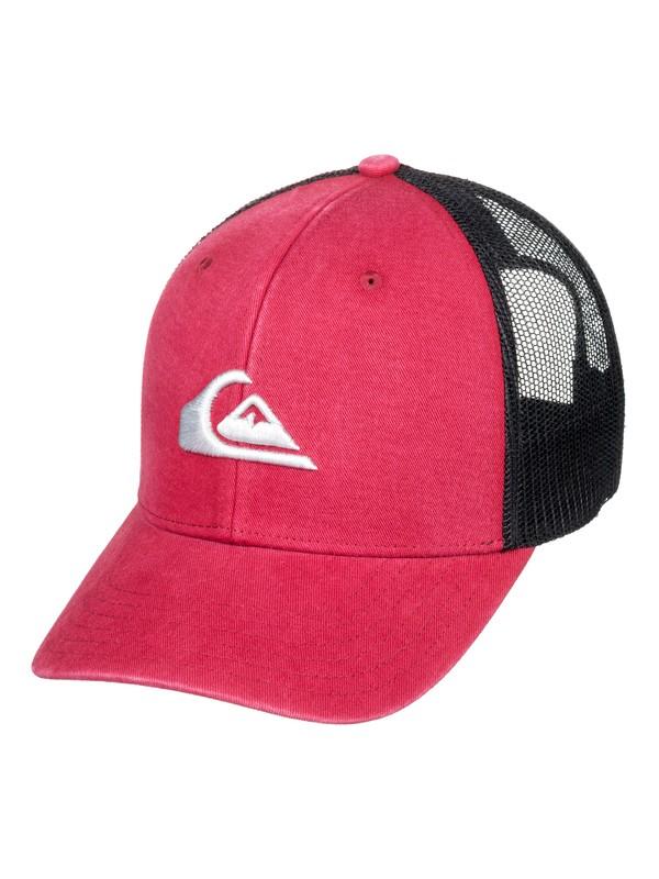 0 Grounder Trucker Hat Red AQYHA03997 Quiksilver