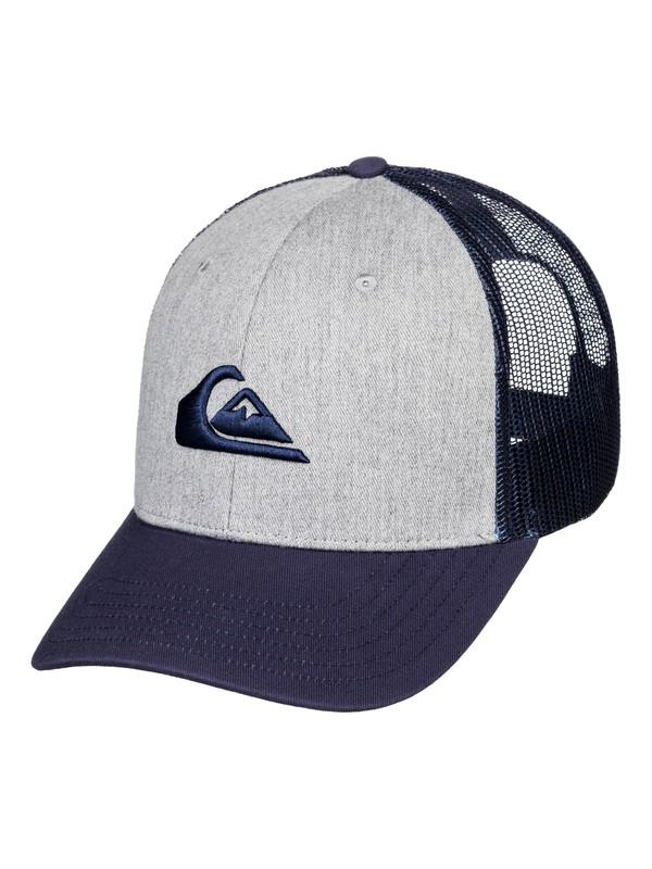 0 Grounder Trucker Hat Grey AQYHA03997 Quiksilver