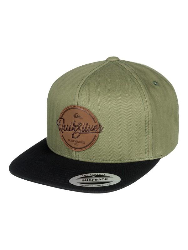 0 Frocker Snapback Hat Green AQYHA04067 Quiksilver