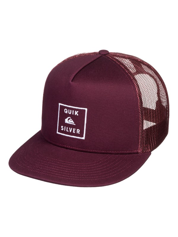 0 Clipster Snapback Hat Red AQYHA04220 Quiksilver
