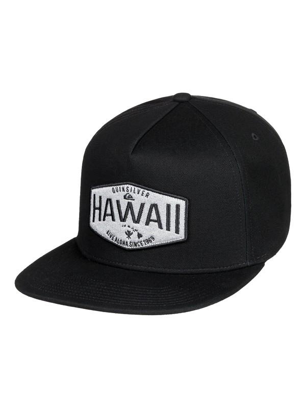 0 HI Waller Patch Snapback Hat Black AQYHA04235 Quiksilver