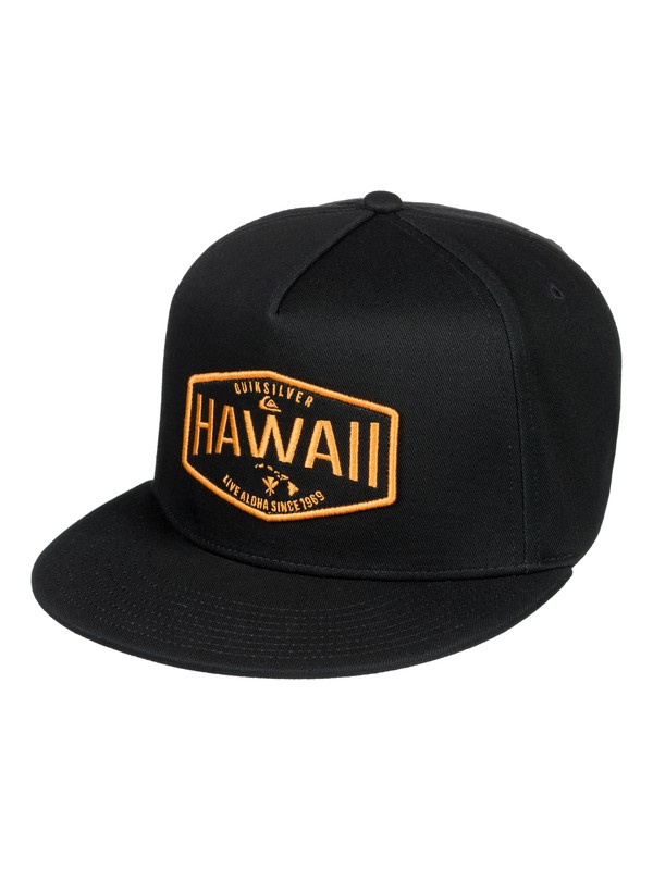 0 HI Waller Patch Snapback Hat Black AQYHA04235 Quiksilver