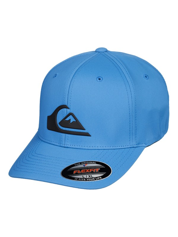 0 Amped Up Amphibian Flexfit® Hat Blue AQYHA04294 Quiksilver