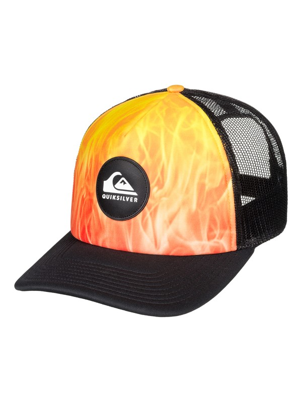 0 Bright Learnings - Trucker Cap for Men Orange AQYHA04304 Quiksilver