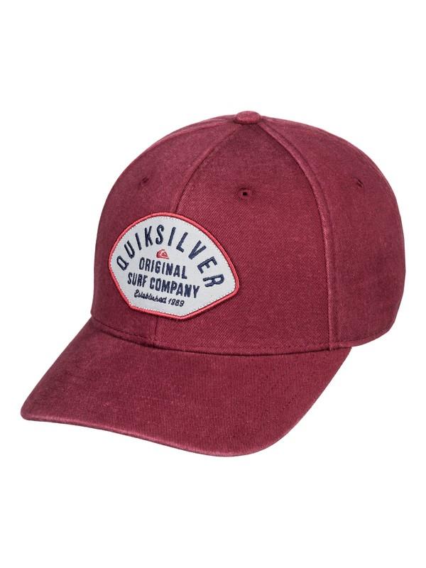 0 Bull Stash Snapback Cap Red AQYHA04378 Quiksilver