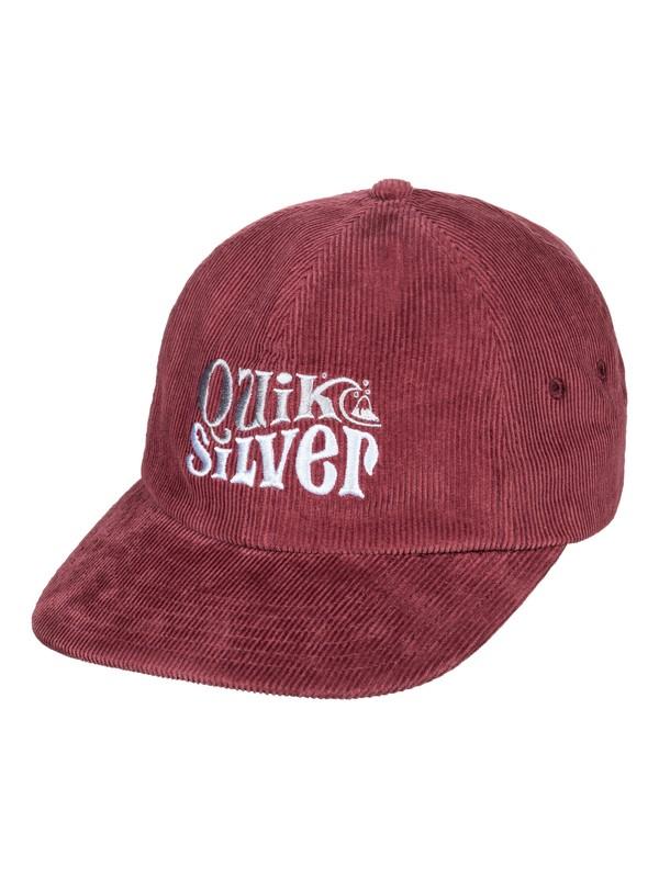 0 Dually Corduroy Snapback Cap Red AQYHA04379 Quiksilver