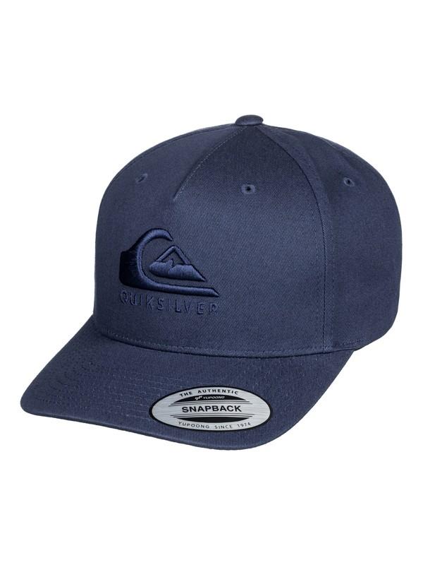0 Tone Stopper Snapback Cap Blue AQYHA04380 Quiksilver