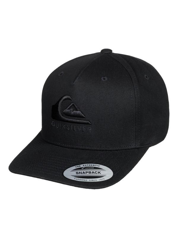0 Tone Stopper Snapback Cap Black AQYHA04380 Quiksilver