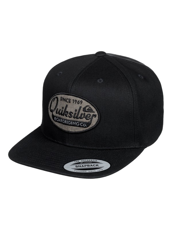 0 Stuck It Snapback Cap Black AQYHA04386 Quiksilver