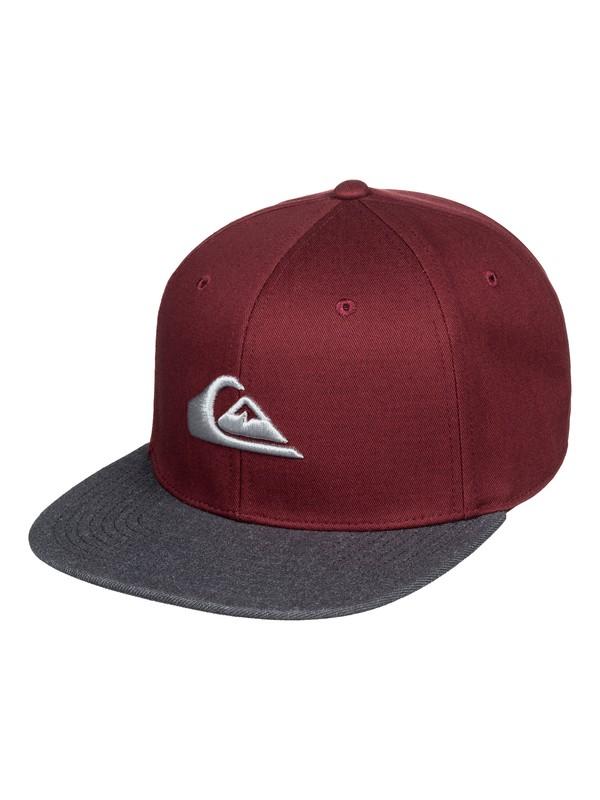 0 Chompers Snapback Hat Red AQYHA04387 Quiksilver