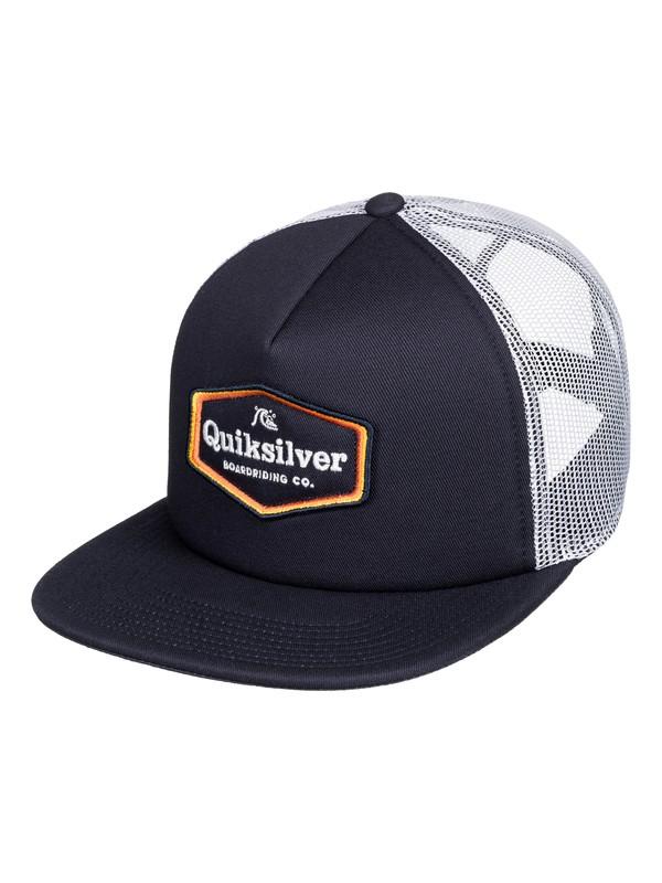 0 Bustered Trucker Cap Blue AQYHA04388 Quiksilver