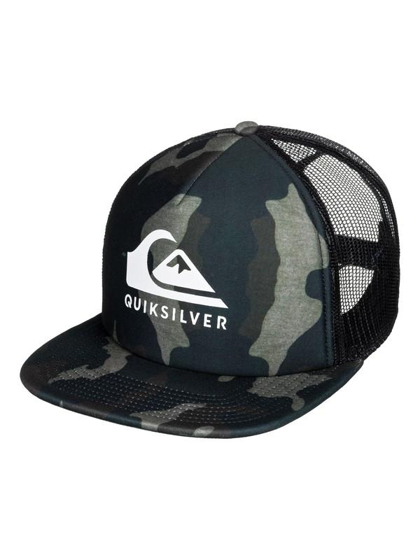0 Foamslayer Trucker Hat Green AQYHA04391 Quiksilver