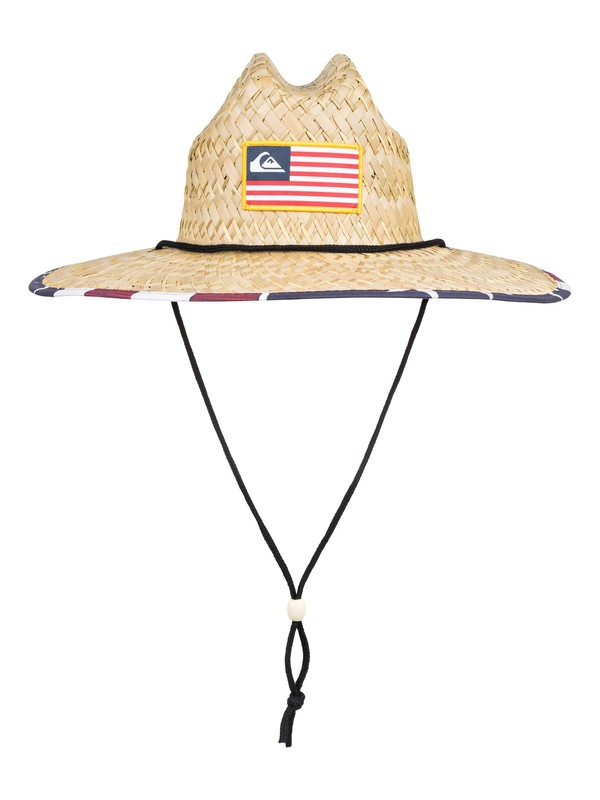 0 Outsider Merica Straw Lifeguard Hat Yellow AQYHA04398 Quiksilver