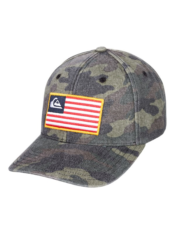 0 Grounded America Snapback Cap Green AQYHA04401 Quiksilver