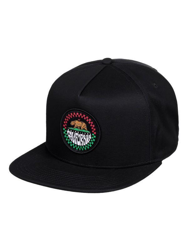 0 Golden Gate Snapback Hat Black AQYHA04415 Quiksilver
