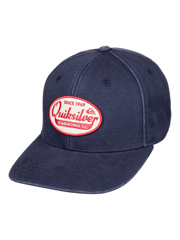 0 Polisher Snapback Hat Blue AQYHA04432 Quiksilver