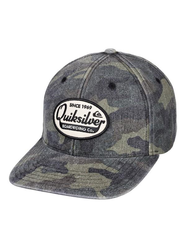 0 Polisher Snapback Hat Green AQYHA04432 Quiksilver