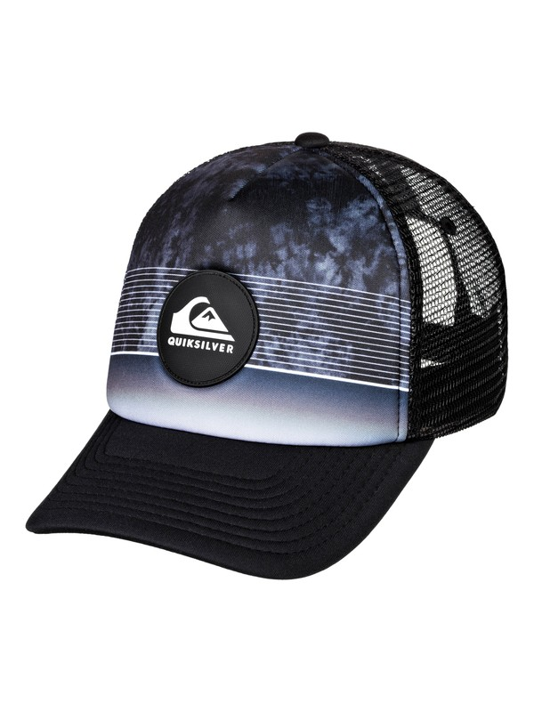 0 Stripe Pipes Trucker Hat Black AQYHA04436 Quiksilver