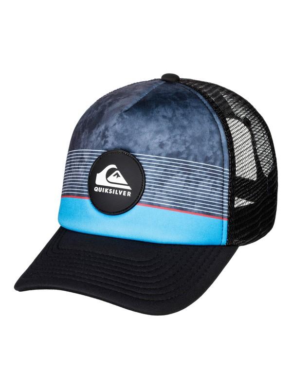 0 Stripe Pipes Trucker Hat Red AQYHA04436 Quiksilver