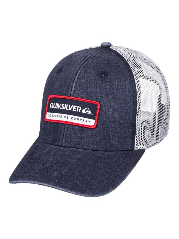 0 Rinsed Trucker Hat Blue AQYHA04437 Quiksilver