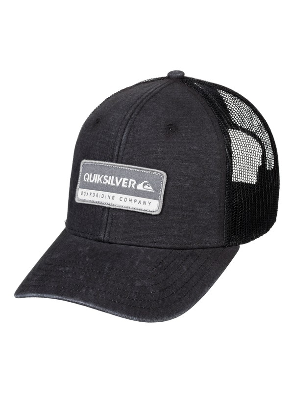 0 Rinsed Trucker Hat Black AQYHA04437 Quiksilver