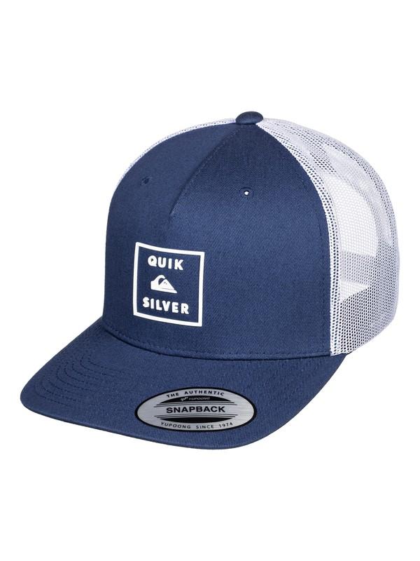 0 Locked In - Trucker Cap for Men Azul AQYHA04444 Quiksilver