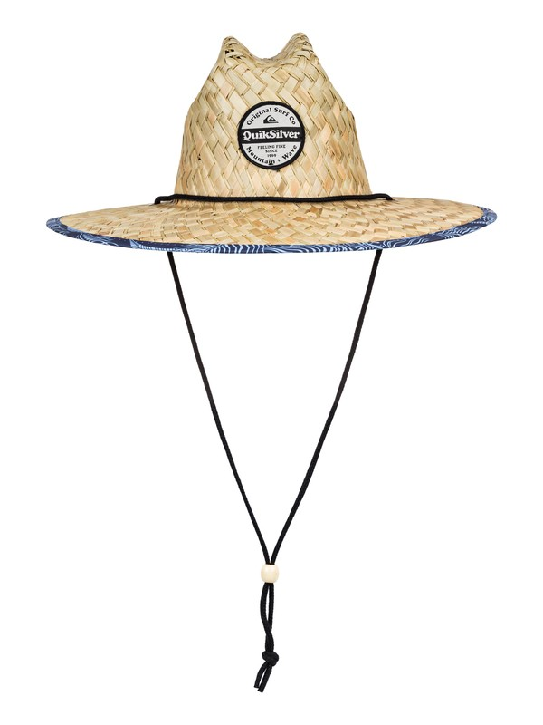0 Outsider Straw Lifeguard Hat Blue AQYHA04462 Quiksilver