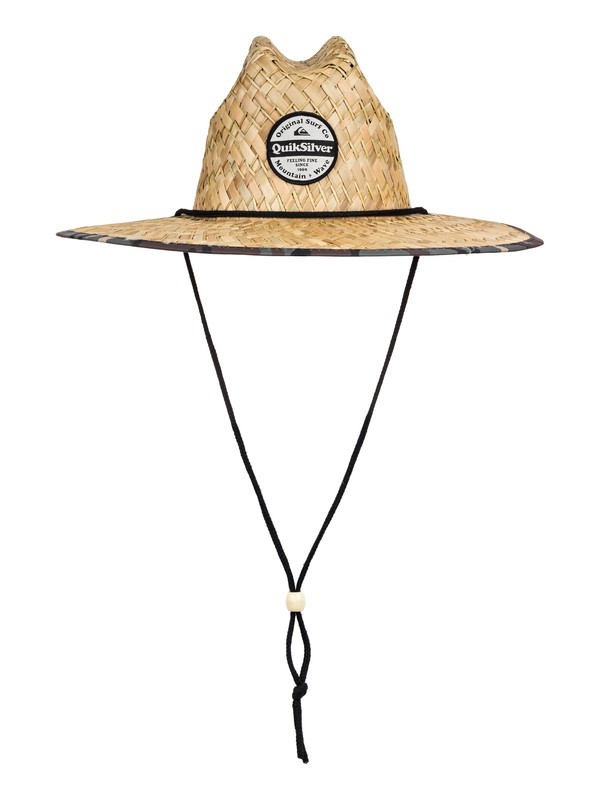 0 Outsider Straw Lifeguard Hat Green AQYHA04462 Quiksilver