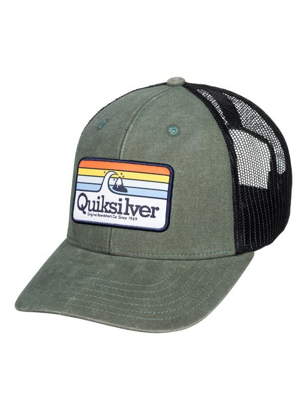 0 Clean Lines Trucker Hat Green AQYHA04505 Quiksilver