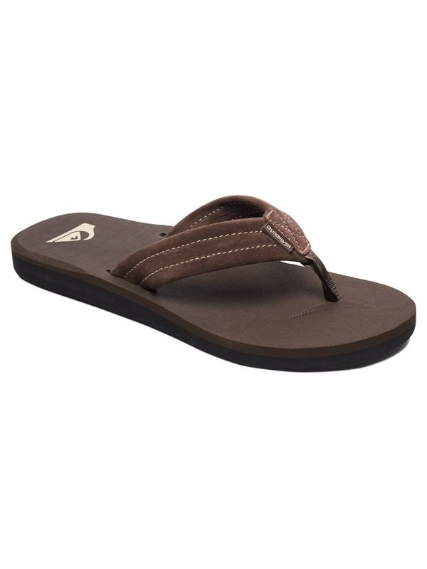 0 Carver - Leather Sandals for Men Brown AQYL100030 Quiksilver