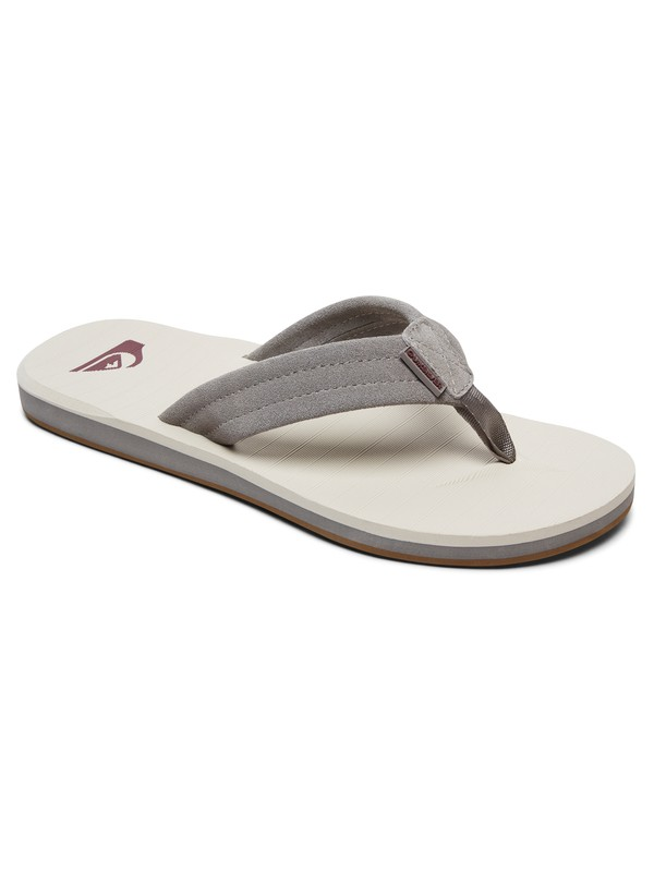 0 Carver Leather Sandals Grey AQYL100030 Quiksilver