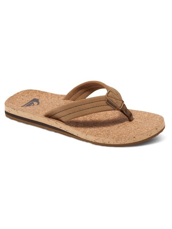 0 Carver Cork Suede Sandals  AQYL100406 Quiksilver