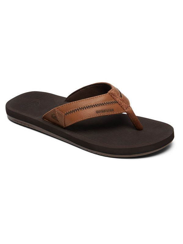 0 Coastal Oasis Deluxe Leather Sandals Brown AQYL100760 Quiksilver