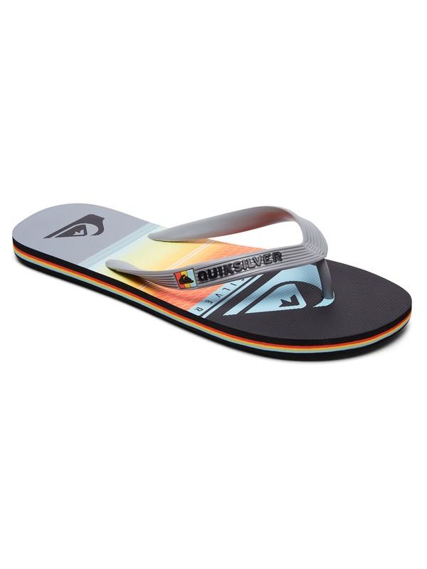 0 Molokai Highline Slab Flip-Flops Grey AQYL100768 Quiksilver
