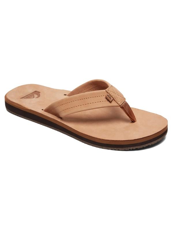 0 Erreka Leather Sandals Beige AQYL100811 Quiksilver