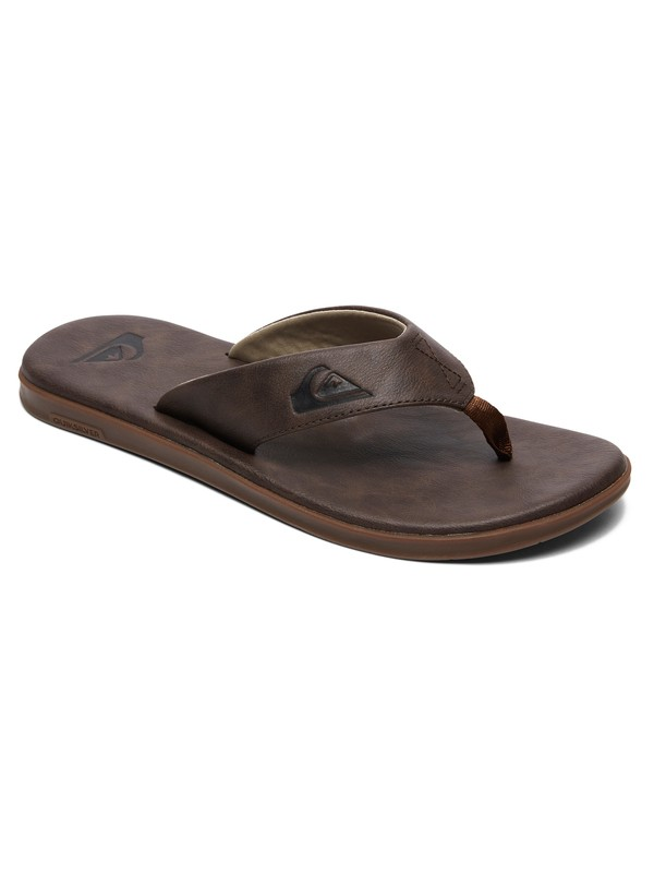 0 Haleiwa Plus Nubuck Leather Sandals Brown AQYL100843 Quiksilver